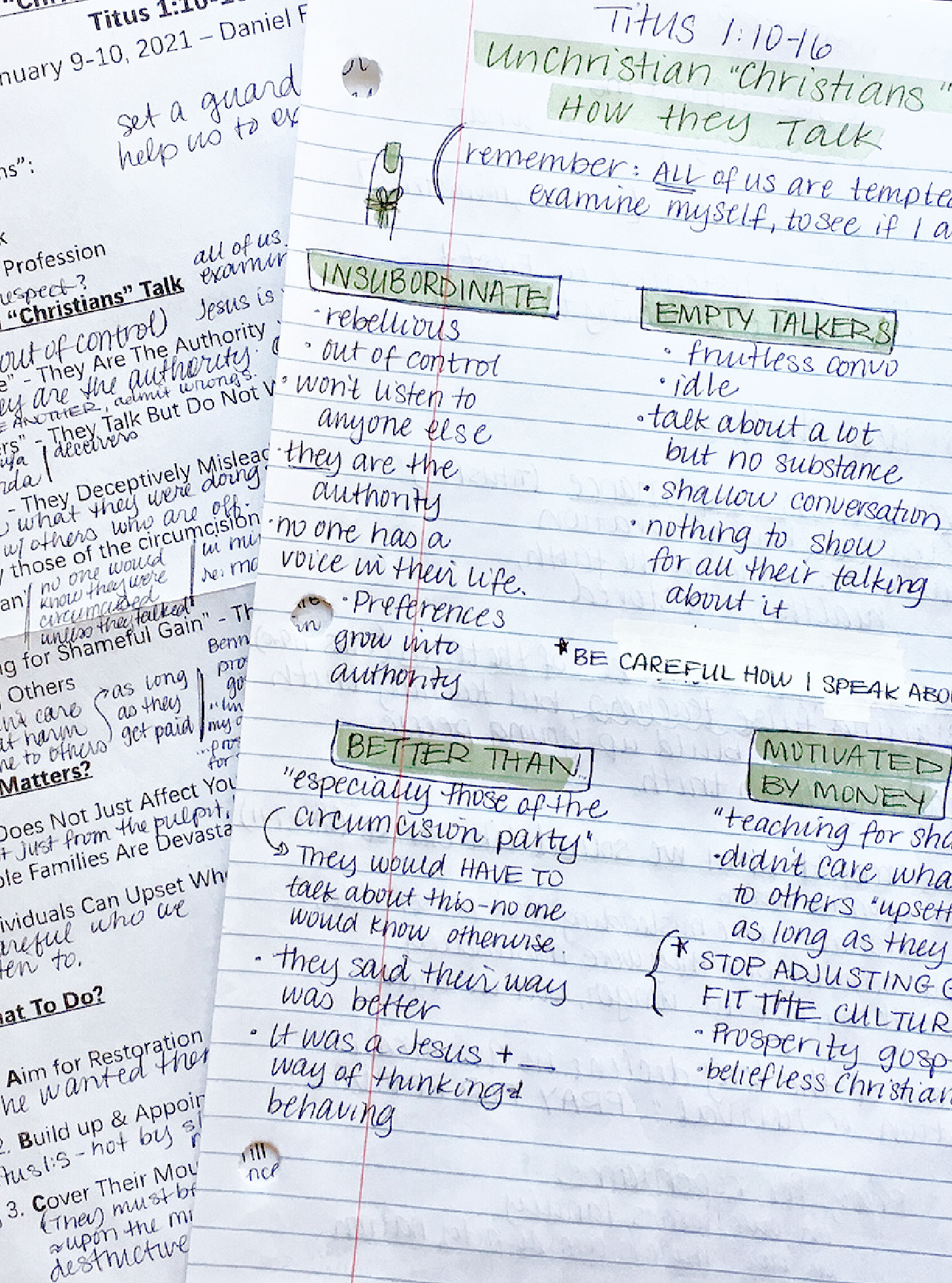 sermon notes – unChrisitan Christians-how they talk